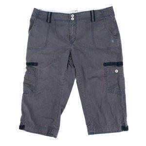 Levi's Cargo Shorts Women's 12 34x17 Gray Mid Rise